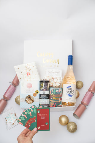 Festive Fun with Rosé Wine Christmas care package - Caring Canary