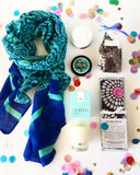 Pure Elegance care package gift hamper with scarf
