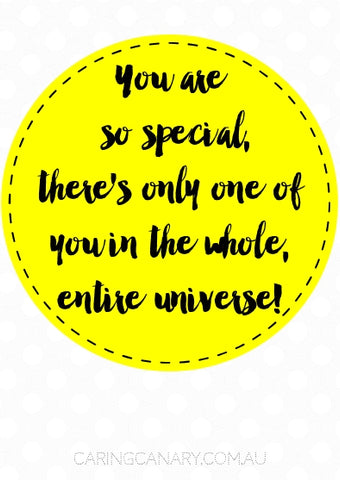 You Are So Special caring card - Caring Canary