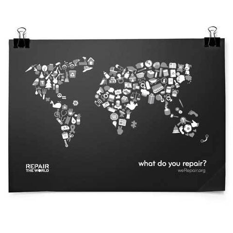 Repair the World Map Poster