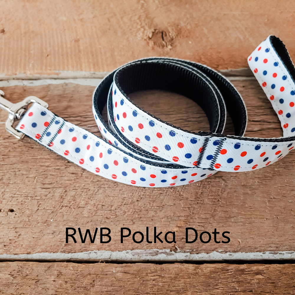 RWB Polka Dot Leash