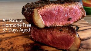 All Natural, Hormone Free, 37 days aged beef