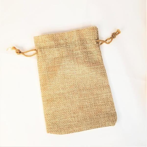 Small Reusable Burlap Bag
