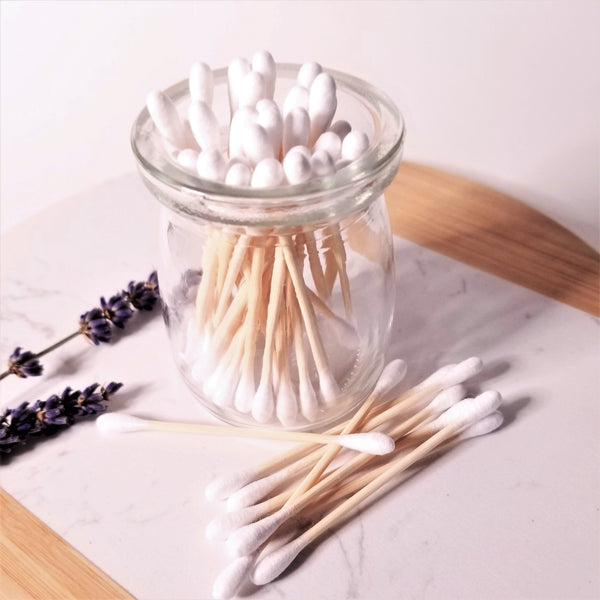 bamboo cotton swabs white
