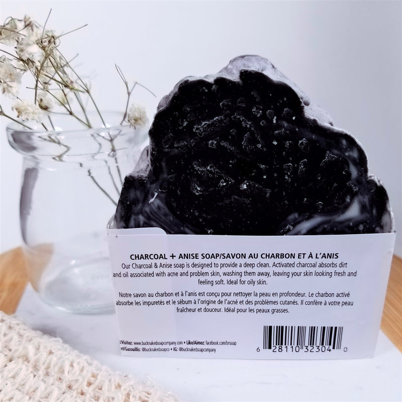Extra-Large Charcoal & Anise Soap