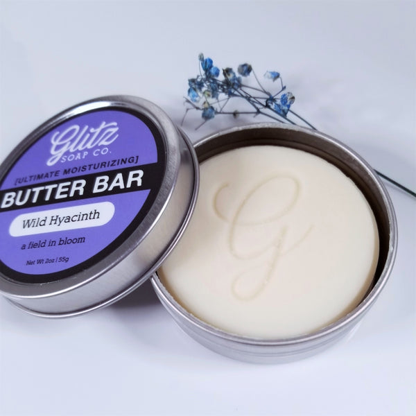 zero waste body butter bar in reusable tin