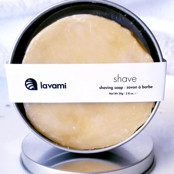 shave shaving soap in reusable tin zero waste shaving