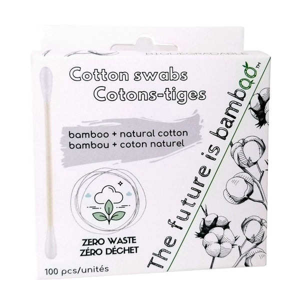Biodegradable Cotton Swabs | White