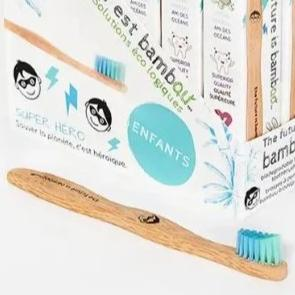 superhero bamboo toothbrush for kids
