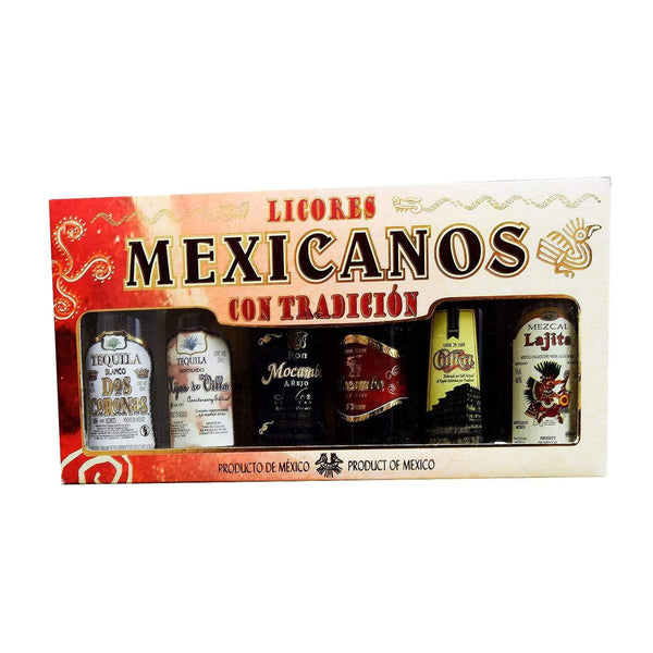 Alkohol Miniaturen:Licores Mexicanos Miniature Gift Set - 6 x 50ml