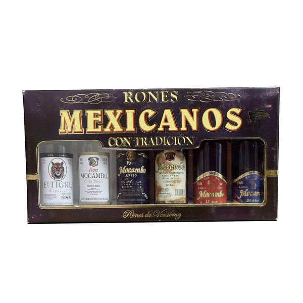 Alkohol Miniaturen:Rones Mexicanos Miniature Gift Set - 6 x 50ml