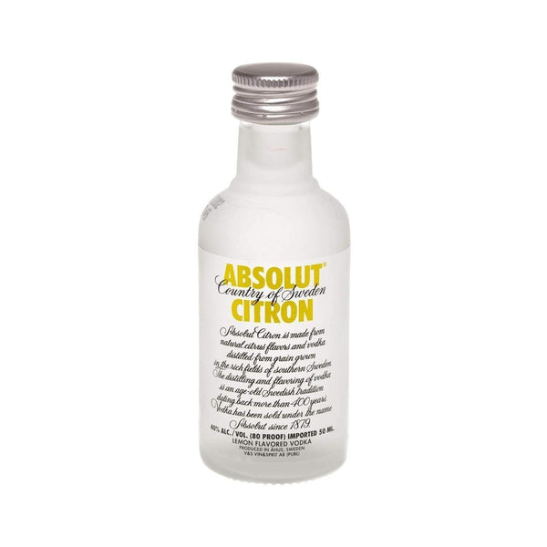 Alkohol Miniaturen:Absolut Citron Vodka Miniature - 50ml,Miniature Drinks