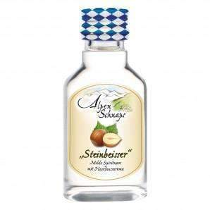 Alkohol Miniaturen:AlpenSchnaps Steinbeisser Haselnuss (Hazelnut) Miniature - 20ml,Offers