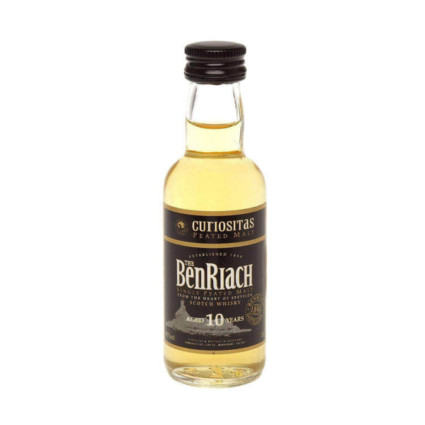 Alkohol Miniaturen:Benriach 10 yr Curiositas Single Malt Scotch Whisky Miniature - 50ml,Miniature Drinks