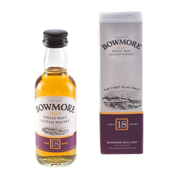 Alkohol Miniaturen:Bowmore 18 yr Single Malt Scotch Whisky Miniature - 50ml,Miniature Drinks