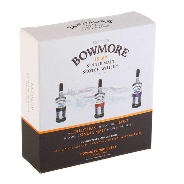 Alkohol Miniaturen:Bowmore Single Malt Scotch Whisky Miniature Gift Set - 3 x 50ml