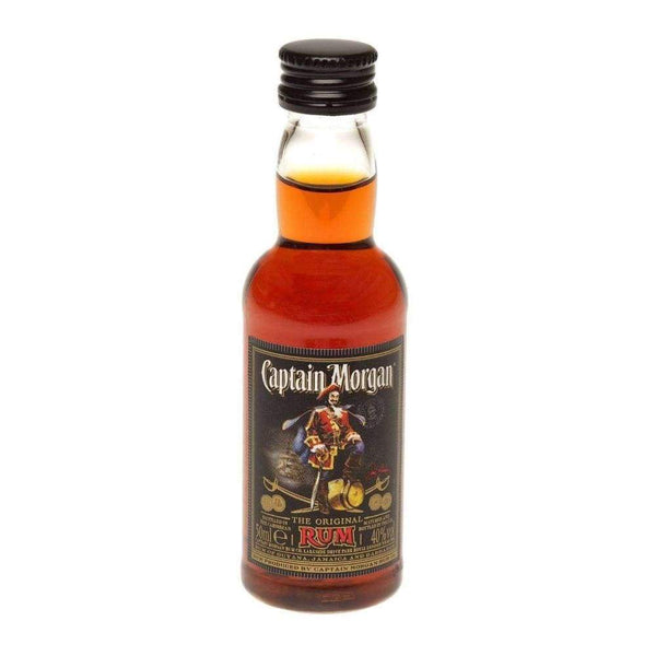 Alkohol Miniaturen:Captain Morgan Dark Rum Miniature - 50ml,Miniature Drinks