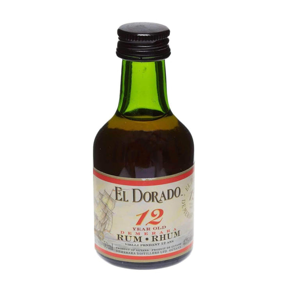 Alkohol Miniaturen:El Dorado 12 year Demerara Rum Miniature - 50ml,Miniature Drinks