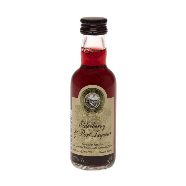 Alkohol Miniaturen:Elderberry & Port Fruit Liqueur Miniature (Lyme Bay) - 50ml,Miniature Drinks