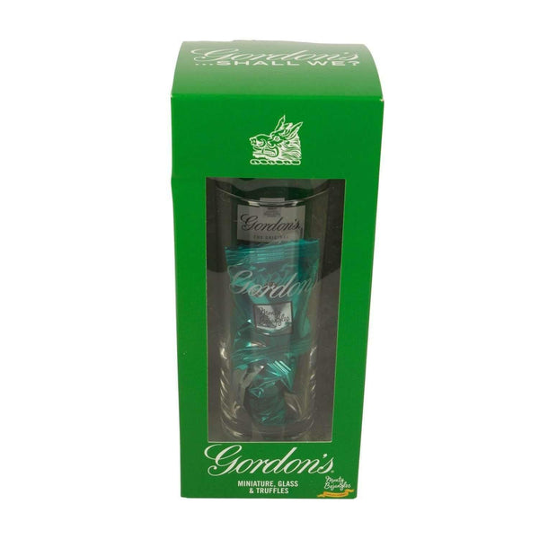 Alkohol Miniaturen:Gordons Gin, Glass & Chocolate Truffles Gift Pack - 50ml