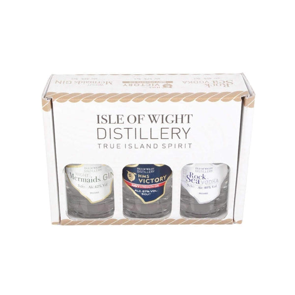 Alkohol Miniaturen:Isle of Wight GIN Miniature Spirit Selection - 3 x 50ml