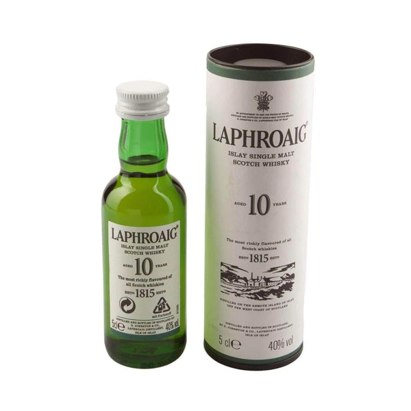 Alkohol Miniaturen:Laphroaig 10 year Single Malt Scotch Whisky Miniature - 50ml,Miniature Drinks