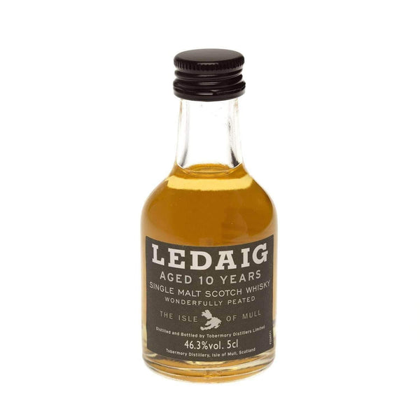 Alkohol Miniaturen:Ledaig 10 year Peated Single Malt Scotch Whisky Miniature - 50ml,Miniature Drinks