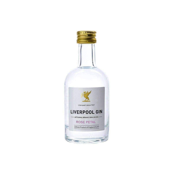 Alkohol Miniaturen:Liverpool Artisanal Organic Rose Petal English Gin Miniature - 50ml,Miniature Drinks