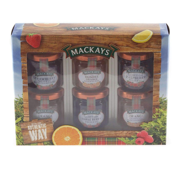 Alkohol Miniaturen:Mackays Tasting Collection 6 x Mini Jar Gift Pack