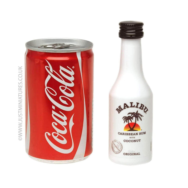 Alkohol Miniaturen:Malibu Coconut Rum & Coke (Miniature & Mini Can Set)