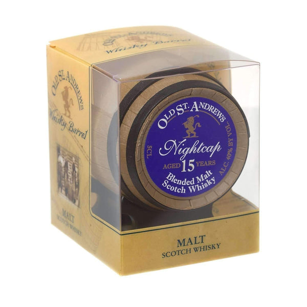Alkohol Miniaturen:Old St. Andrews Nightcap 15yr Blended Malt Scotch Whisky Barrel - 50ml
