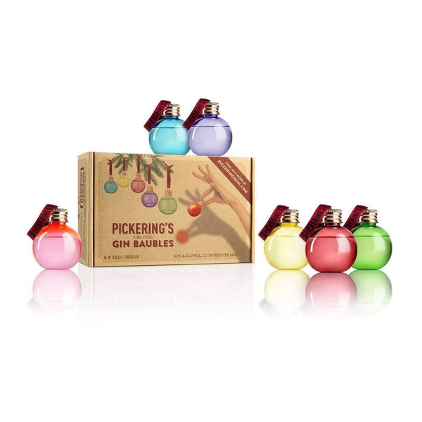 Alkohol Miniaturen:Pickering's Hand-Picked Gin Baubles Gift Set - 6 x 50ml
