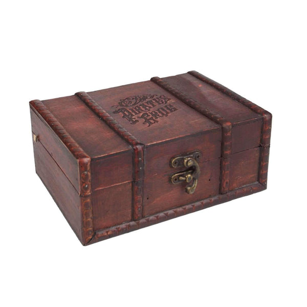 Alkohol Miniaturen:Pirates Grog Rum Treasure Chest Gift Set - 3 x 50ml