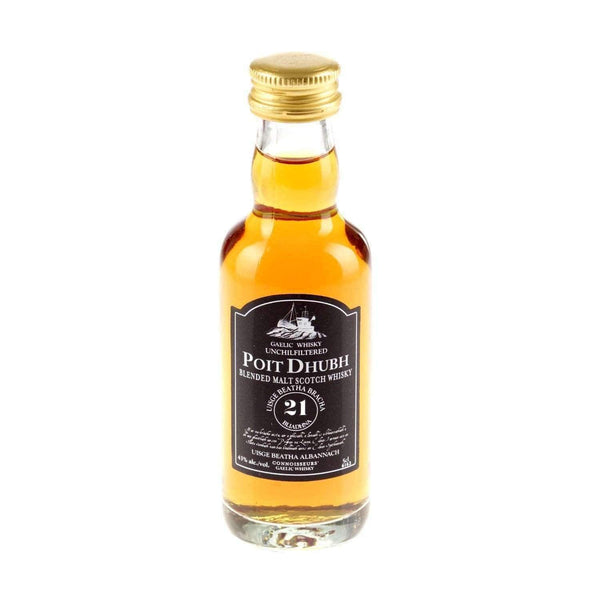 Alkohol Miniaturen:Poit Dhubh 21 year Gaelic Blended Malt Scotch Whisky Miniature - 50ml,Miniature Drinks