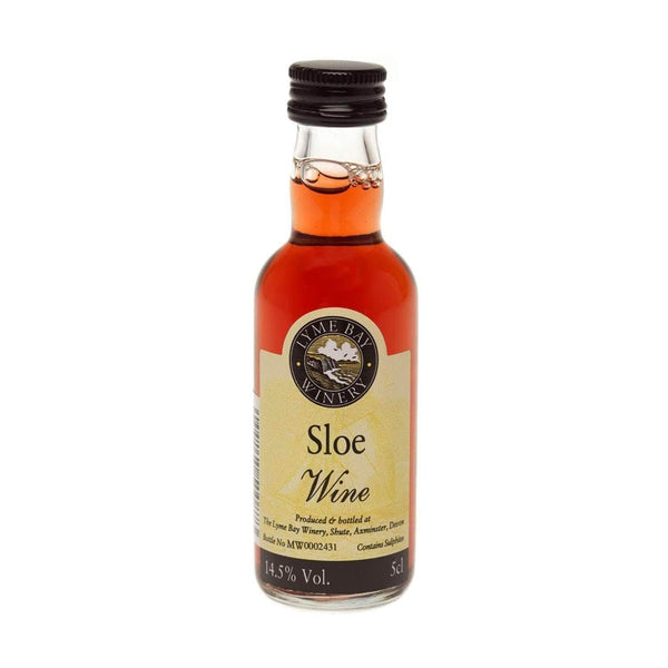 Alkohol Miniaturen:Sloe Fruit Wine Miniature (Lyme Bay) - 50ml,Miniature Drinks