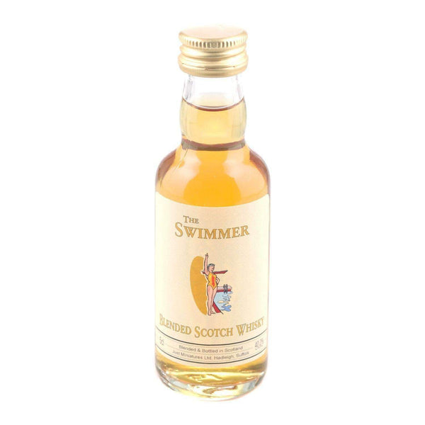 Alkohol Miniaturen:Swimmer Blended Scotch Whisky Miniature - 50ml,Miniature Drinks