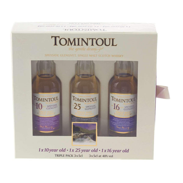 Alkohol Miniaturen:Tomintoul Single Malt Scotch Whisky Miniature Gift Set - 3 x 50ml