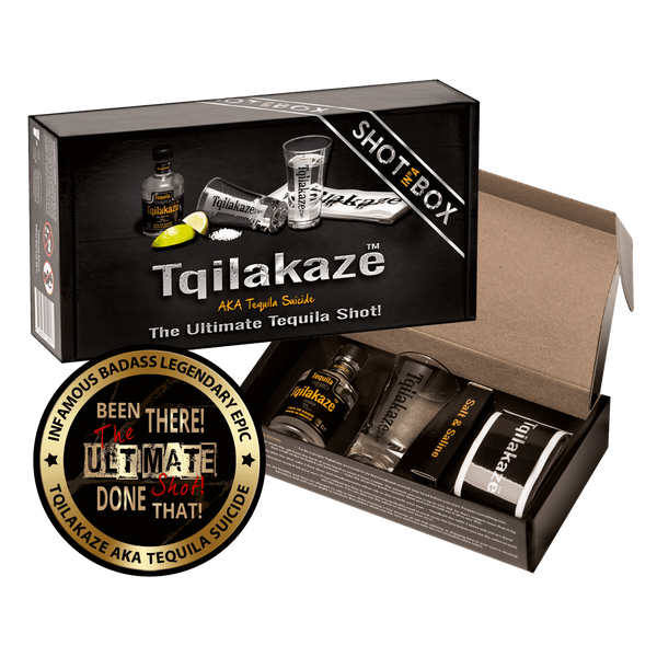 Alkohol Miniaturen:Tqilakaze The Ultimate Tequila Shot-In-A-Box Gift - 50ml