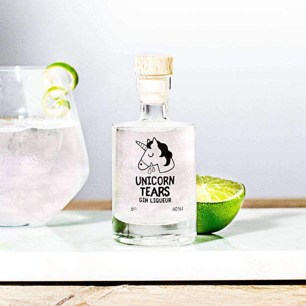 Alkohol Miniaturen:Unicorn Tears White Gin Liqueur Miniature 50ml,Miniature Drinks