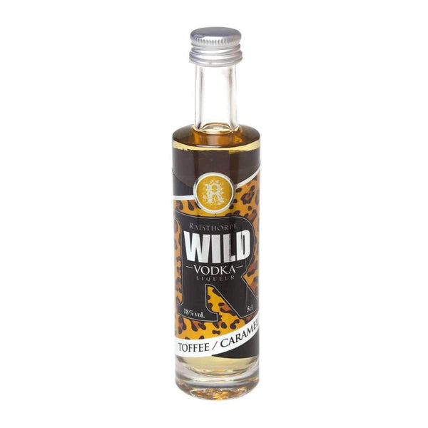 Alkohol Miniaturen:WILD Vodka Liqueur Miniature - Toffee & Caramel - 50ml,Miniature Drinks