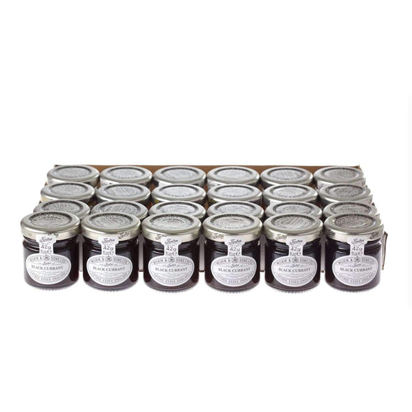 Alkohol Miniaturen:Wilkin & Sons Tiptree Blackcurrant Preserve Mini Jar - 42g (24 Pack)