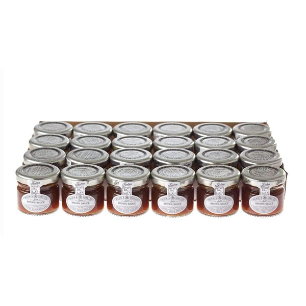 Alkohol Miniaturen:Wilkin & Sons Tiptree Ketchup & Brown Sauce Mini Jars Mixed Pack - 24 x 28g