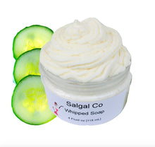 Load image into Gallery viewer, Cucumber Melon Whip Soap | Salgal Co