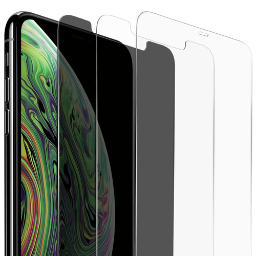 Vicious Teknology iPhone XS Max Screen Protector, 6.5 Inches - 3 Pack, with One Advanced Anti-Spy Privacy Tempered Glass, and Two High Clarified & 99% Touch Accurate Tempered Glass