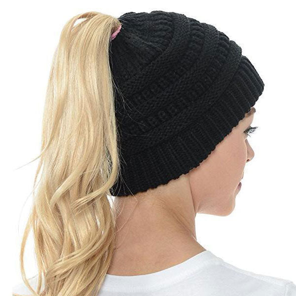 Extra Warm Ponytail Beanie Hat -