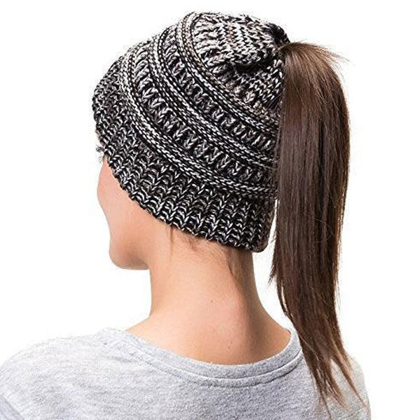 Extra Warm Ponytail Beanie Hat