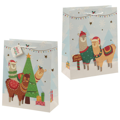 Christmas Festive Friends Animal Design Medium Gift Bag