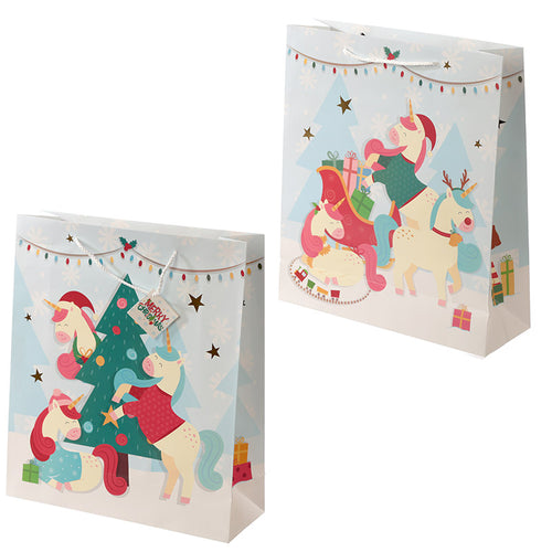 Christmas Festive Friends Animal Design Extra Large Gift Bag