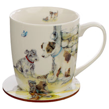 Load image into Gallery viewer, Dog Mug Gift Set with Coaster