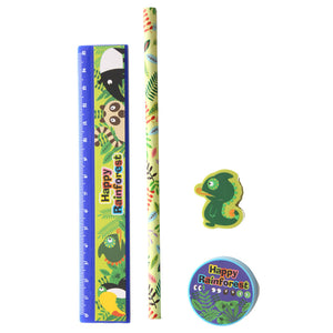 Multi-Buy Offer - 5 sets Happy Forest 4 Piece Stationery Set